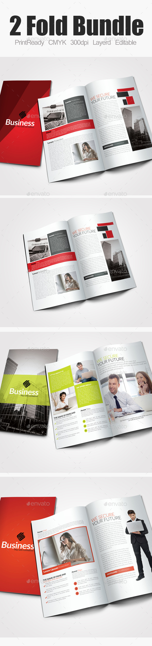GraphicRiver Bi Fold Business Bundle 9189826