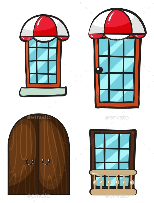 GraphicRiver Various Windows and Doors 9189846