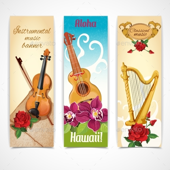 GraphicRiver Music Instruments Banners 9189848
