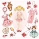 Girl Character Accessories Set - GraphicRiver Item for Sale