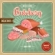 Retro Meat Poster - GraphicRiver Item for Sale