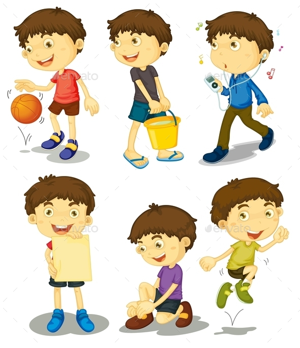 GraphicRiver Boy in Five Poses 9189960