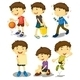 Boy in Five Poses - GraphicRiver Item for Sale