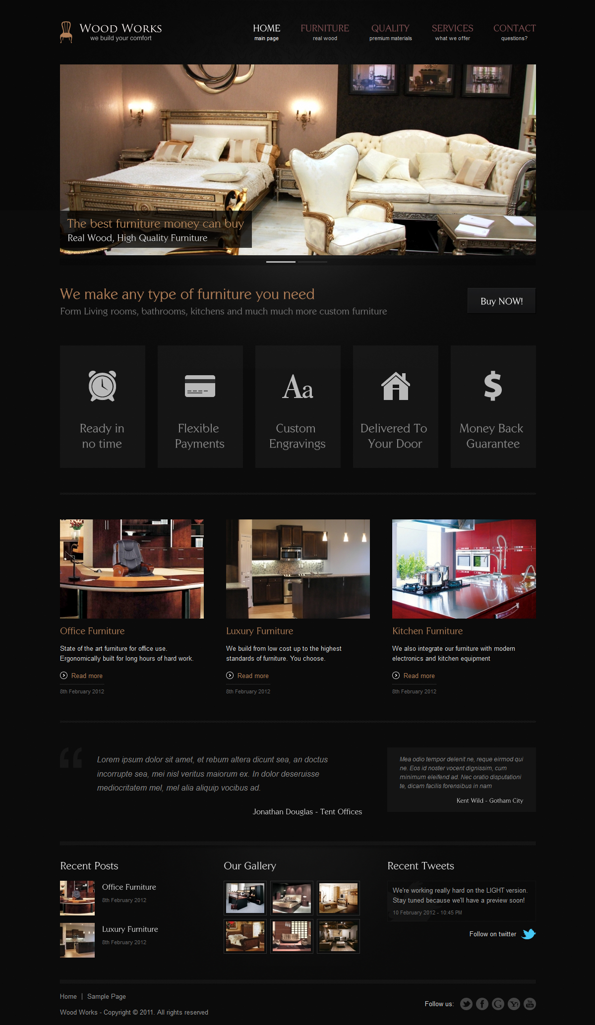 reFresh - Powerful Clean & Elegant WordPress Theme - Wood Works - Furniture - Demo - Showcase