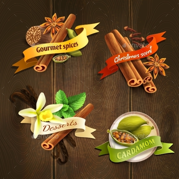 GraphicRiver Spices Badges Set 9190141