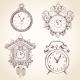 Old Vintage Clock Set - GraphicRiver Item for Sale