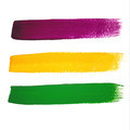 Vector Mardi Gras watercolor brush strokes - PhotoDune Item for Sale
