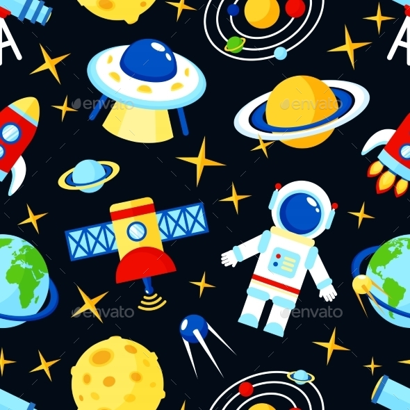 GraphicRiver Space Seamless Pattern 9190288