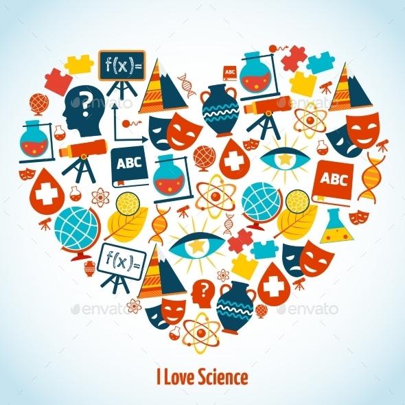 GraphicRiver Education Heart Concept 9190453