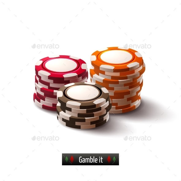 GraphicRiver Casino Chips Isolated 9190473