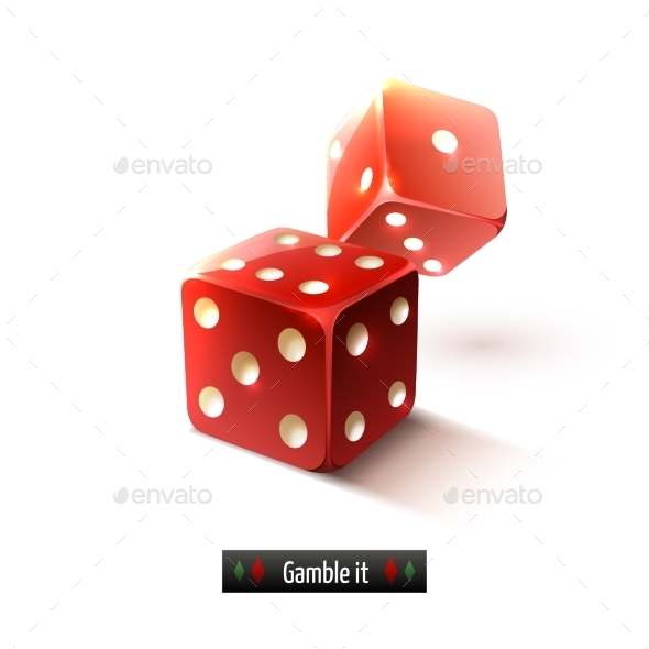 GraphicRiver Realistic Dice Isolated 9190476