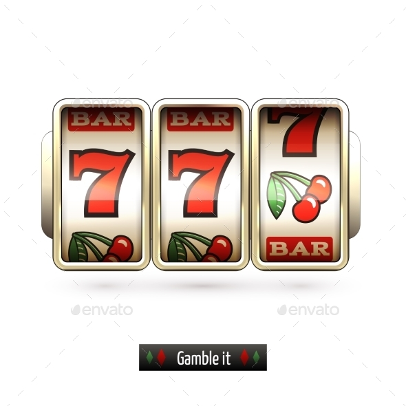GraphicRiver Realistic Slot Machine Isolated 9190479
