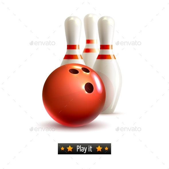 GraphicRiver Bowling Isolated Set 9190481