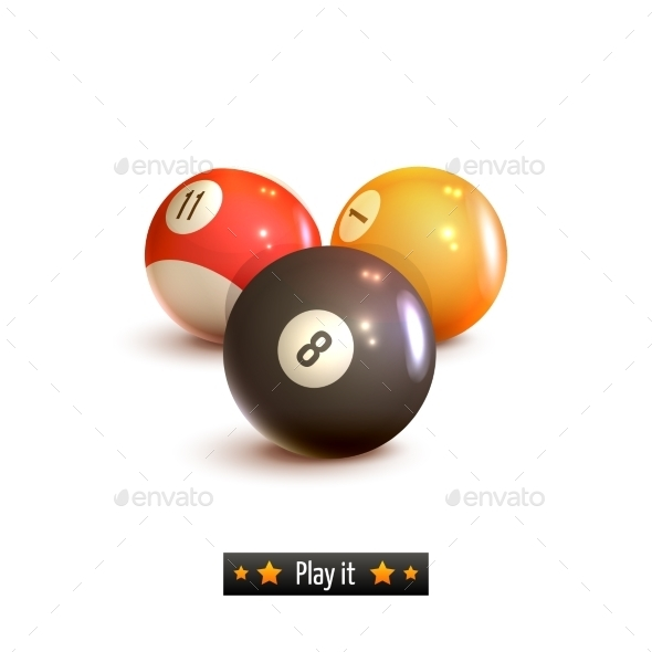GraphicRiver Billiard Balls Isolated 9190483