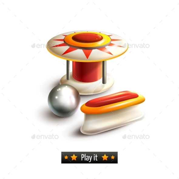 GraphicRiver Pinball Set Isolated 9190485