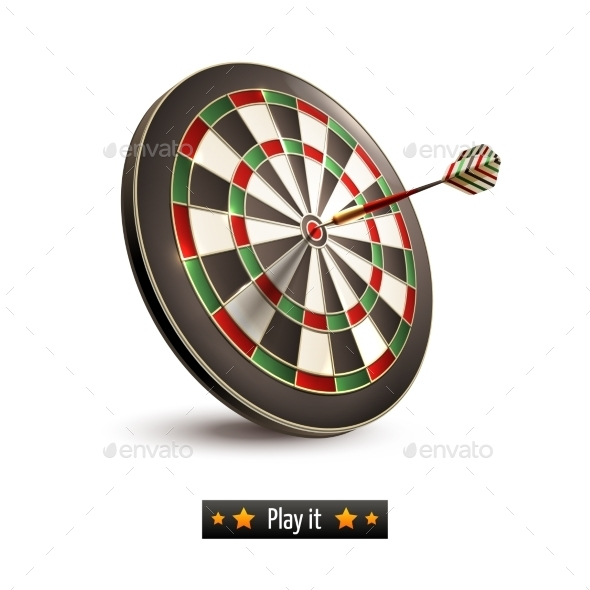 GraphicRiver Darts Board Isolated 9190487