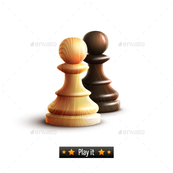 GraphicRiver Chess Pawns Isolated 9190489