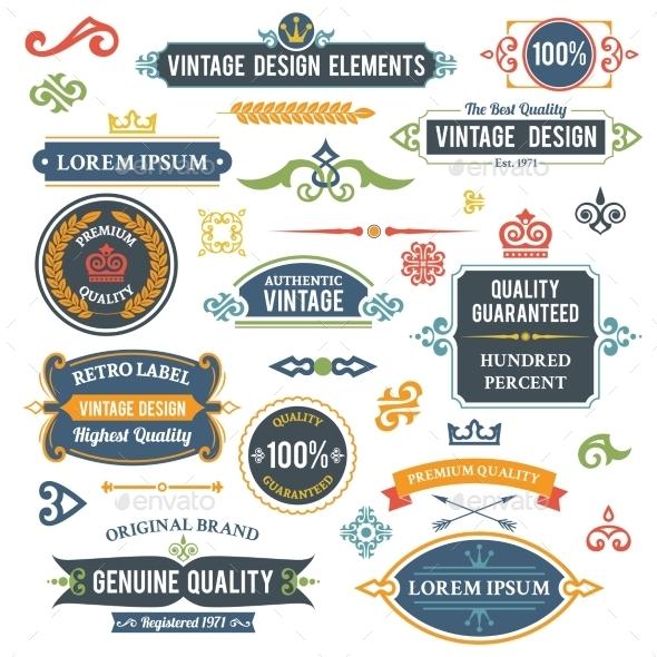 GraphicRiver Vintage Design Elements 9190546