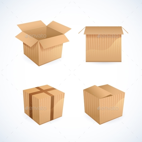 GraphicRiver Box and Package Icons 9190552