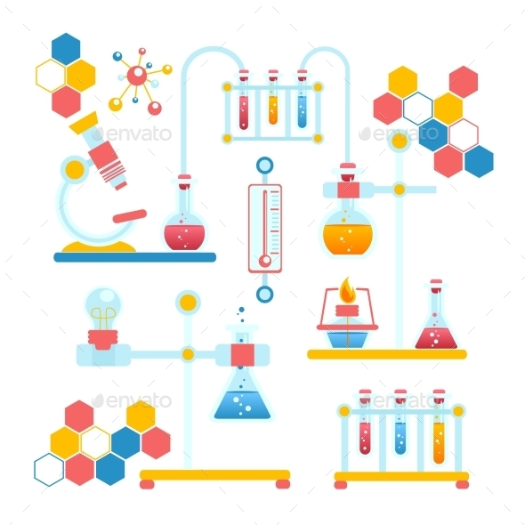 GraphicRiver Chemistry Infographics Composition 9190553