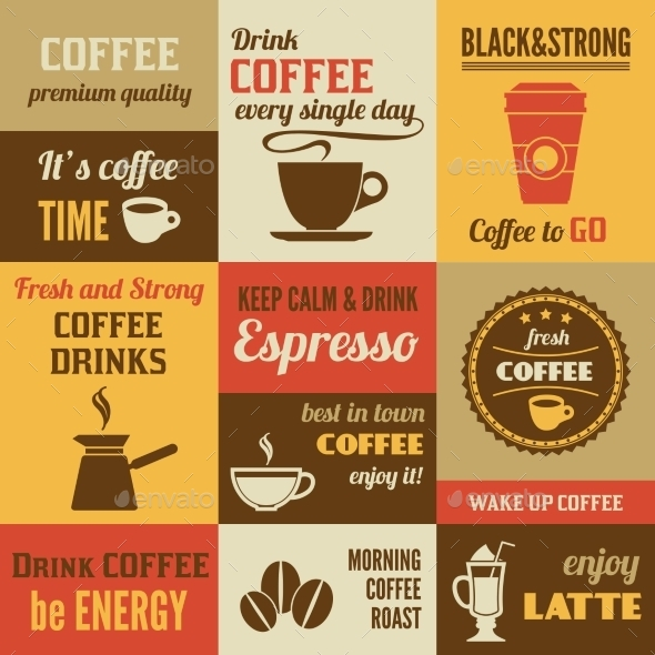 GraphicRiver Coffee Mini Poster Set 9190573