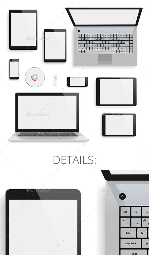 GraphicRiver Laptop and Gadgets 9190643