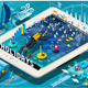 Isometric Diving Holidays Infographic on Tablet - GraphicRiver Item for Sale