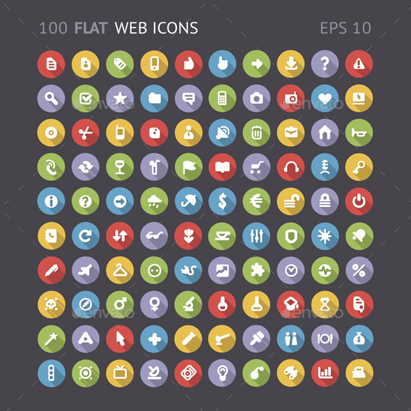 GraphicRiver Flat Web Interface Icons 9190685