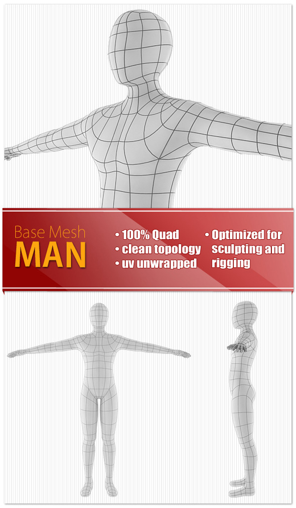 3DOcean Man Base Mesh 9190689