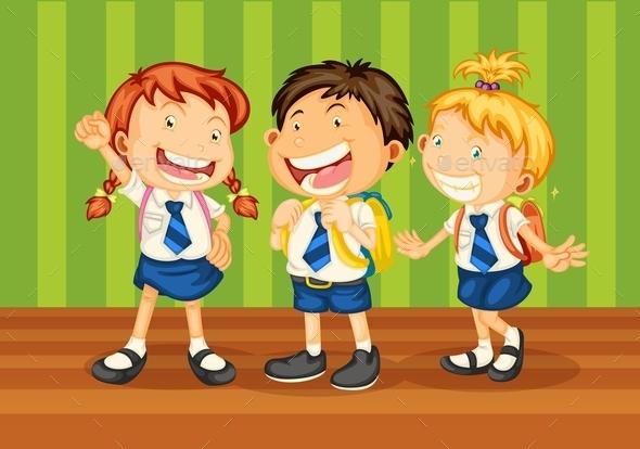 GraphicRiver School Kids 9190781