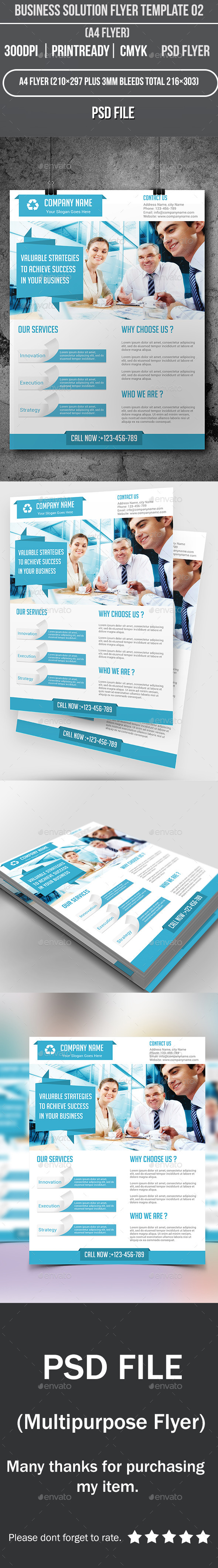 GraphicRiver Business Solution Flyer Template 02 9190783