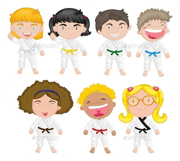 GraphicRiver Karate Kids 9190784