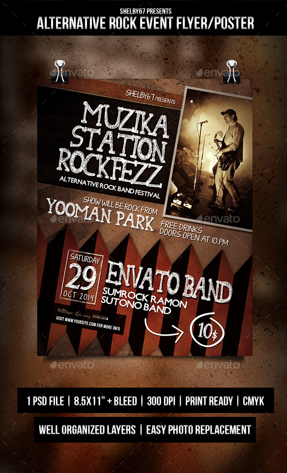 GraphicRiver Alternative Rock Event Flyer Poster 9190821