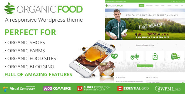 Organic Food, Responsive Wordpress Theme