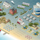 Isometric Miami Seaside Buildings - GraphicRiver Item for Sale