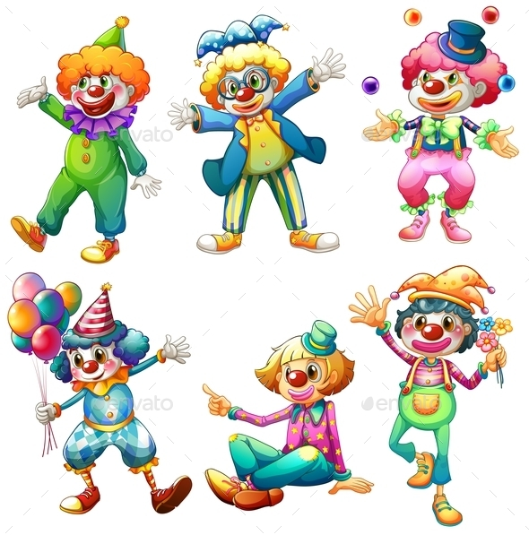 GraphicRiver A Group of Clowns 9190871