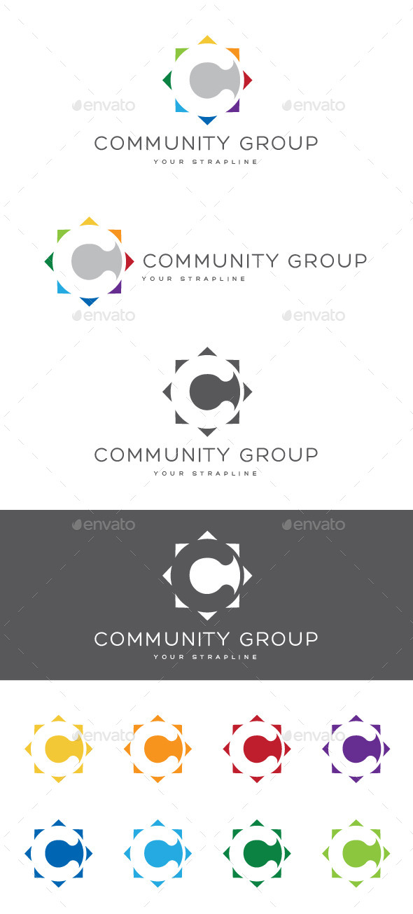 GraphicRiver Community Group Letter C Logo 9190897