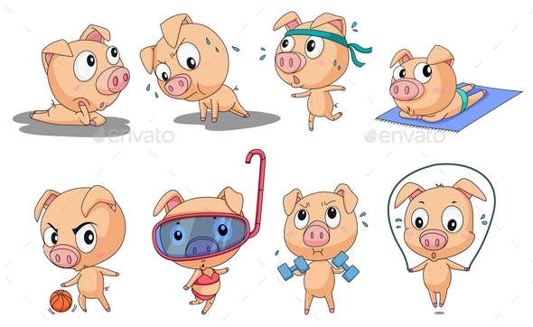 GraphicRiver Piggies 9190909