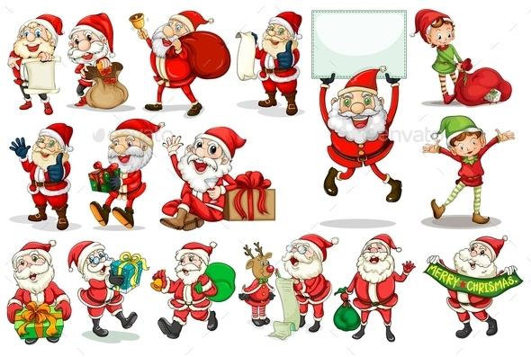 GraphicRiver Santa Actions 9190938