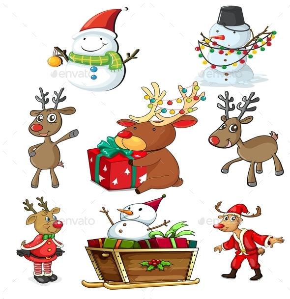 GraphicRiver Set of Christmas Designs 9191135