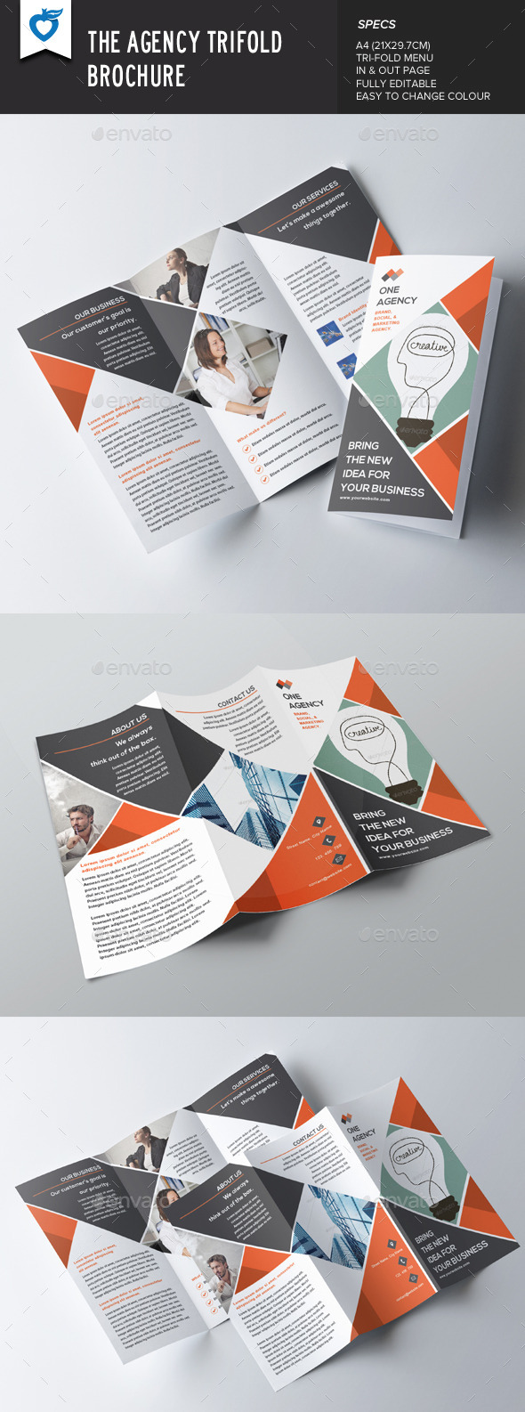GraphicRiver The Agency Trifold Brochure 9191569