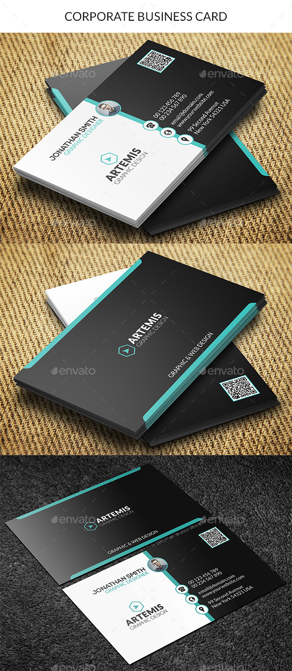 GraphicRiver Corporate Business Card 9191608