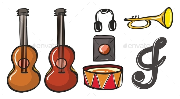 GraphicRiver Various Musical Instruments 9191663