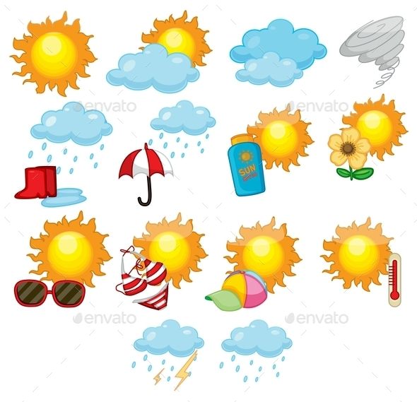 GraphicRiver Weather Icons 9191664