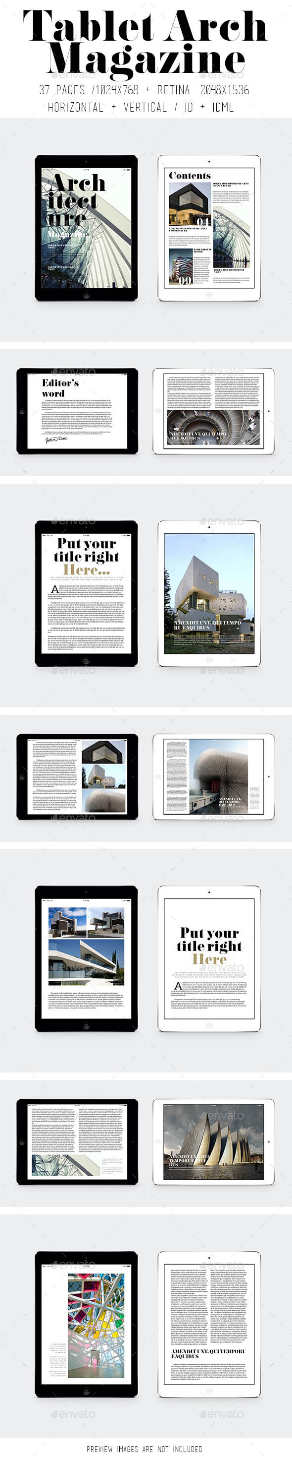 GraphicRiver Tablet Arch Magazine 9191761