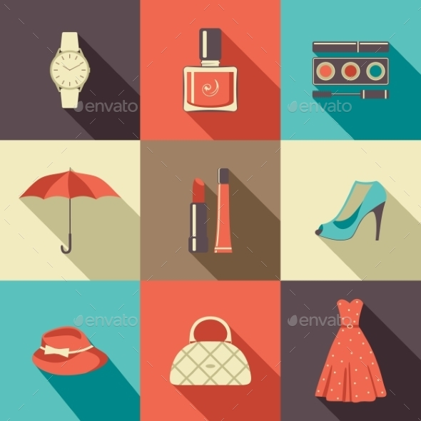 GraphicRiver Flat Icons with Accessories 9191757