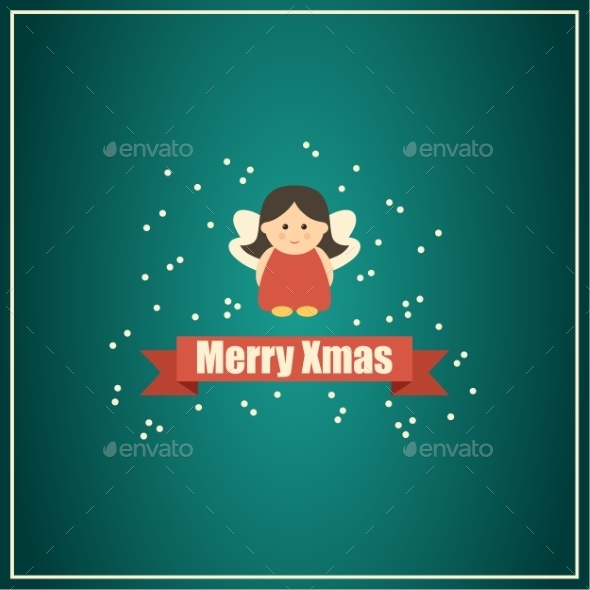 GraphicRiver Christmas Card with Fairy 9191773
