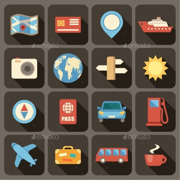 GraphicRiver Flat Icons Set for Web and Mobile Applications 9191776