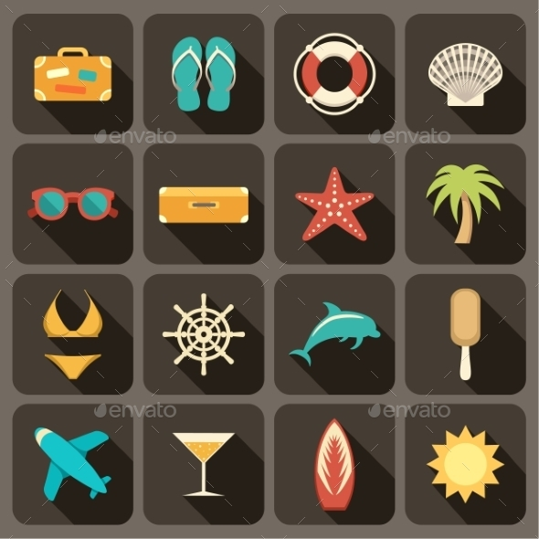 GraphicRiver Flat Icons Set for Web and Mobile Applications 9191795