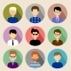 Set of Round Flat Icons with Men.  - GraphicRiver Item for Sale